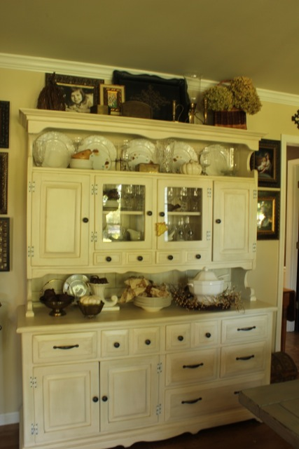 Fall Dining Room Hutch