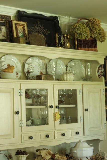 Fall Dining Room Hutch