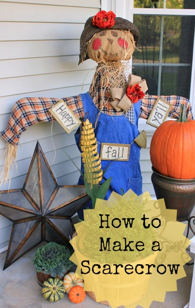 How to Make a Scarecrow @ DaisyMaeBelle