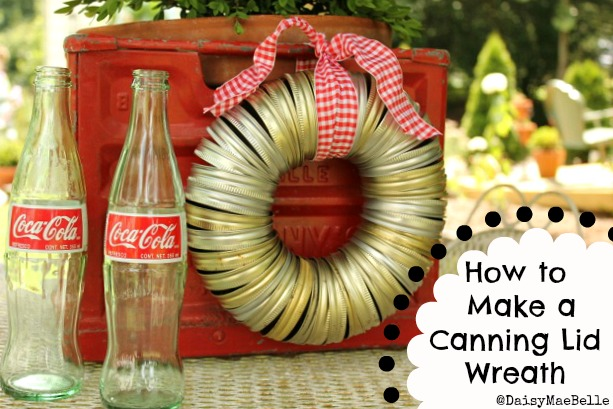 How to Make a Canning Lid Wreath