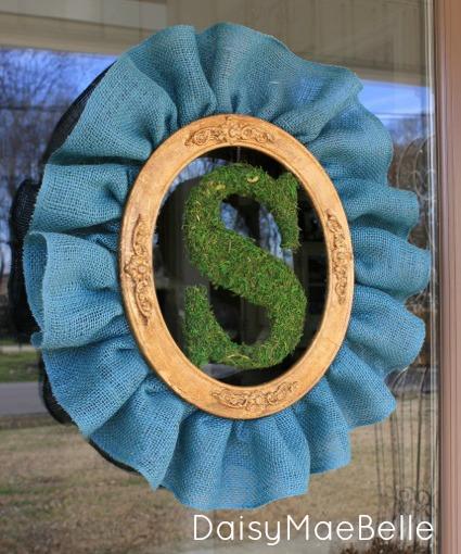 Frame, burlap wreath feb 201317