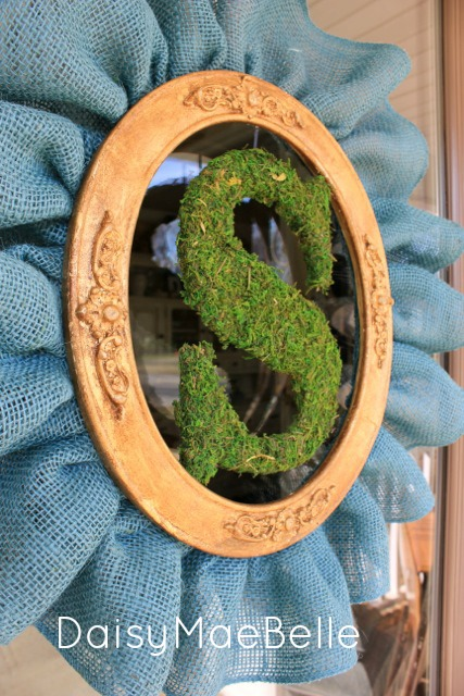 Burlap & Moss Monogram wreath