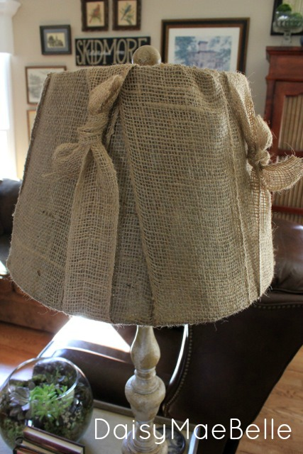 How to make a burlap lampshade daisymaebelle daisymaebelle burlap lampshade21 aloadofball Image collections