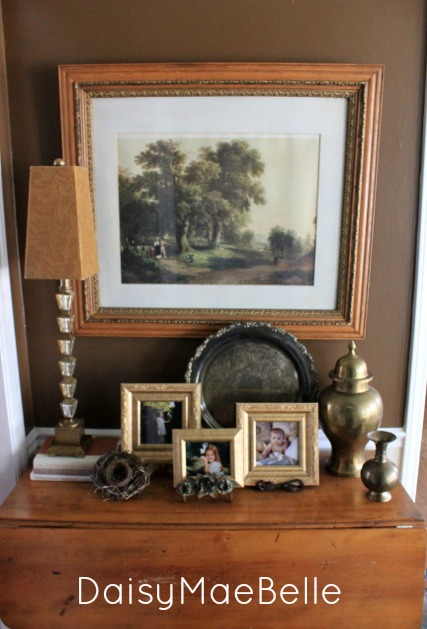 thrift store picture over drop leaf table03