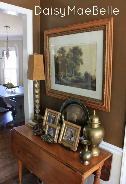 thrift store picture over drop leaf table10