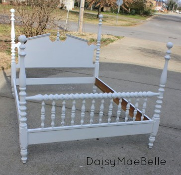 White Chalk Painted Bed @ DaisyMaeBelle