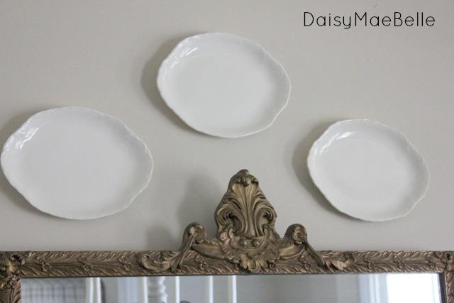 White Ironstone Plates @ DaisyMaeBelle