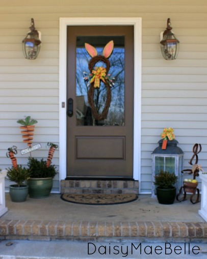 Front Porch Easter Decorations @ DaisyMaeBelle