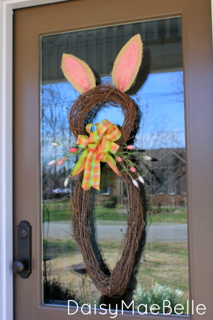 Easter Bunny Wreath @ DaisyMaeBelle