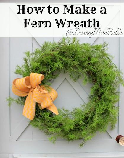 How to Make a Fern Wreath