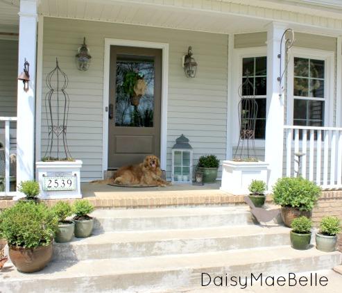 Spring Front Porch @ DaisyMaeBelle