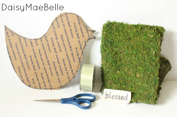 Supplies for Making a Moss Bird @ DaisyMaeBelle