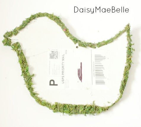 How to Make a Moss Bird @ DaisyMaeBelle