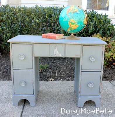 Chalk Painted Desk @ DaisyMaeBelle