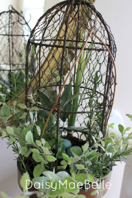 Nest and Birdcage Arrangement @ DaisyMaeBelle