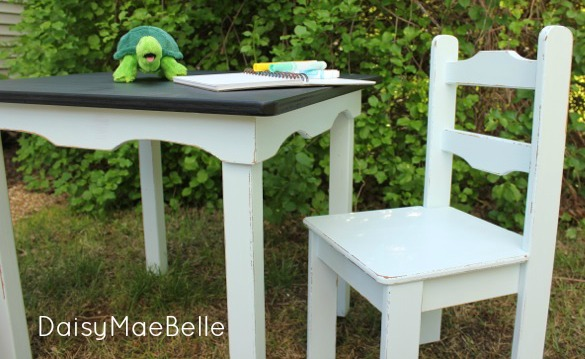 Chalkboard Table @ DaisyMaeBelle