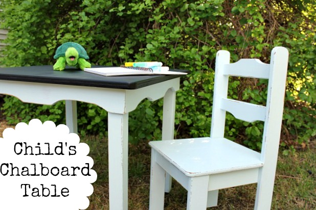 How to Paint a Chalkboard Table
