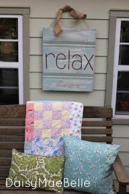 """Relax"" Sign @ DaisyMaeBelle"