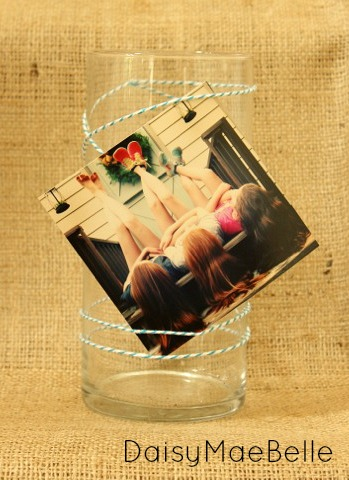Using Pictures to Decorate a Vase @ DaisyMaeBelle