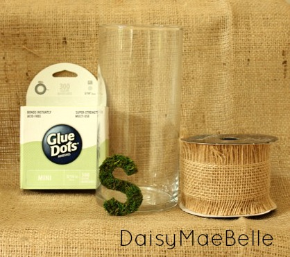 How to Decorate a Plain Glass Vase @ DaisyMaeBelle