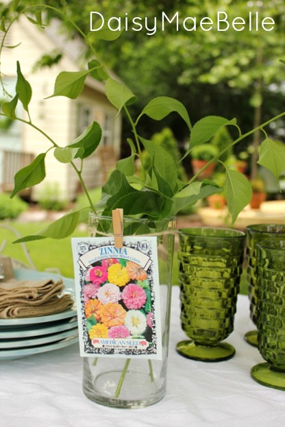 How to Decorate a Glass Vase for a Garden Party @ DaisyMaeBelle