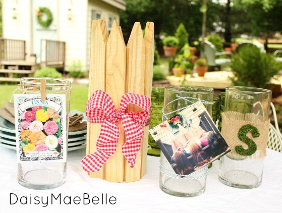 Decorating Plain Vases for a Garden Party @ DaisyMaeBelle
