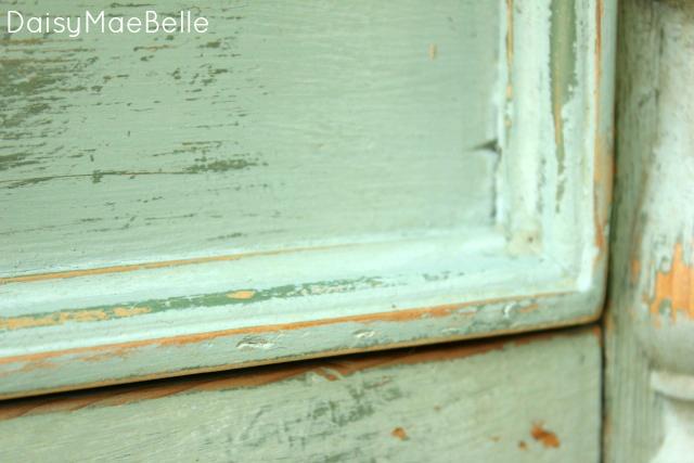 Annie Sloan Duck Egg Blue Side Table @ DaisyMaeBelle