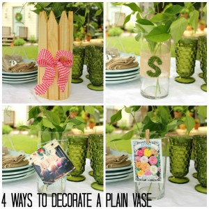 4 Ways to Decorate a Plain Vase @ DaisyMaeBelle