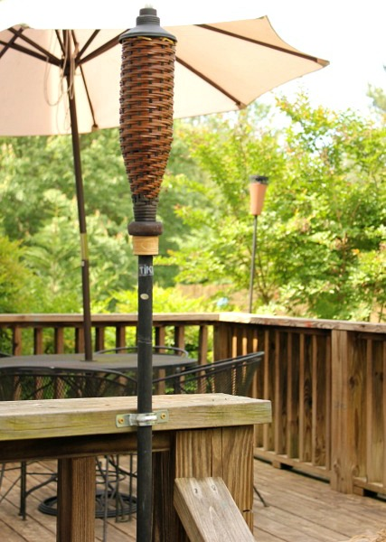 Easy Way to Secure Tiki Torches @ DaisyMaeBelle