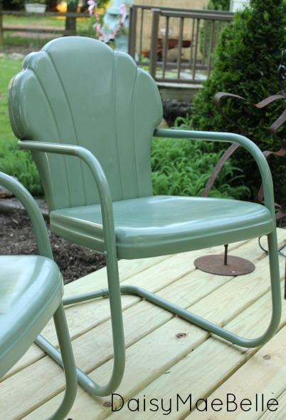 How Do I Paint Metal Furniture How To Paint Metal Chairs Daisymaebelle Daisymaebelle With