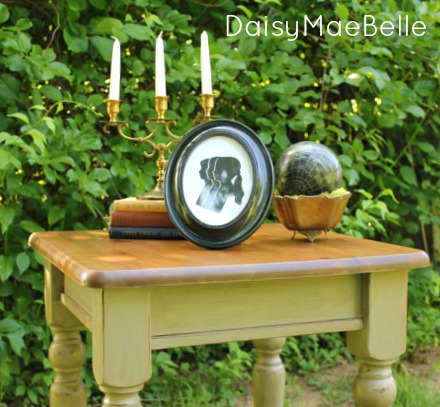 Chalk Painted Table with Dark Wax @ DaisyMaeBelle