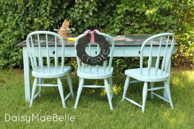 Child's Painted Table and Chairs @ DaisyMaeBelle