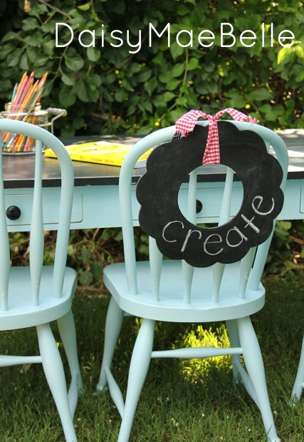 Painted Table and Chairs @ DaisyMaeBelle