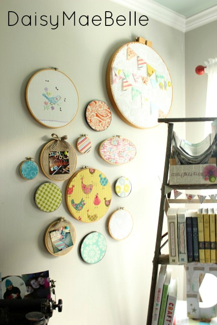 Embroidery Hoop Art @ DaisyMaeBelle