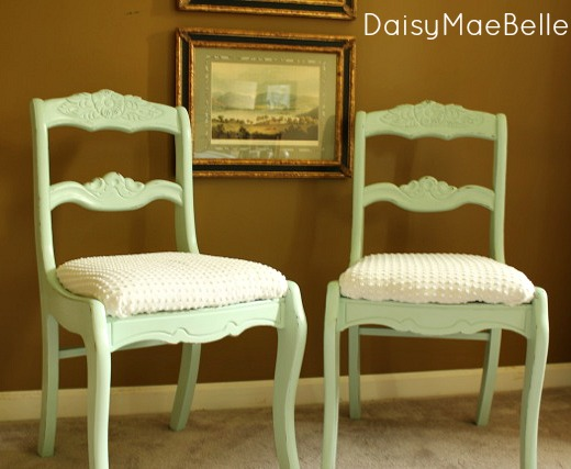 Mint Green Chalk Painted Chairs Daisymaebelle