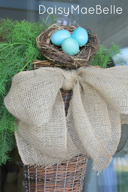 Burlap Bow and Basket14