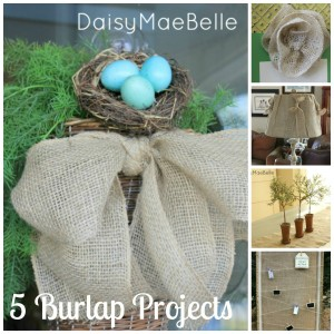 5 Burlap Projects @ DaisyMaeBelle
