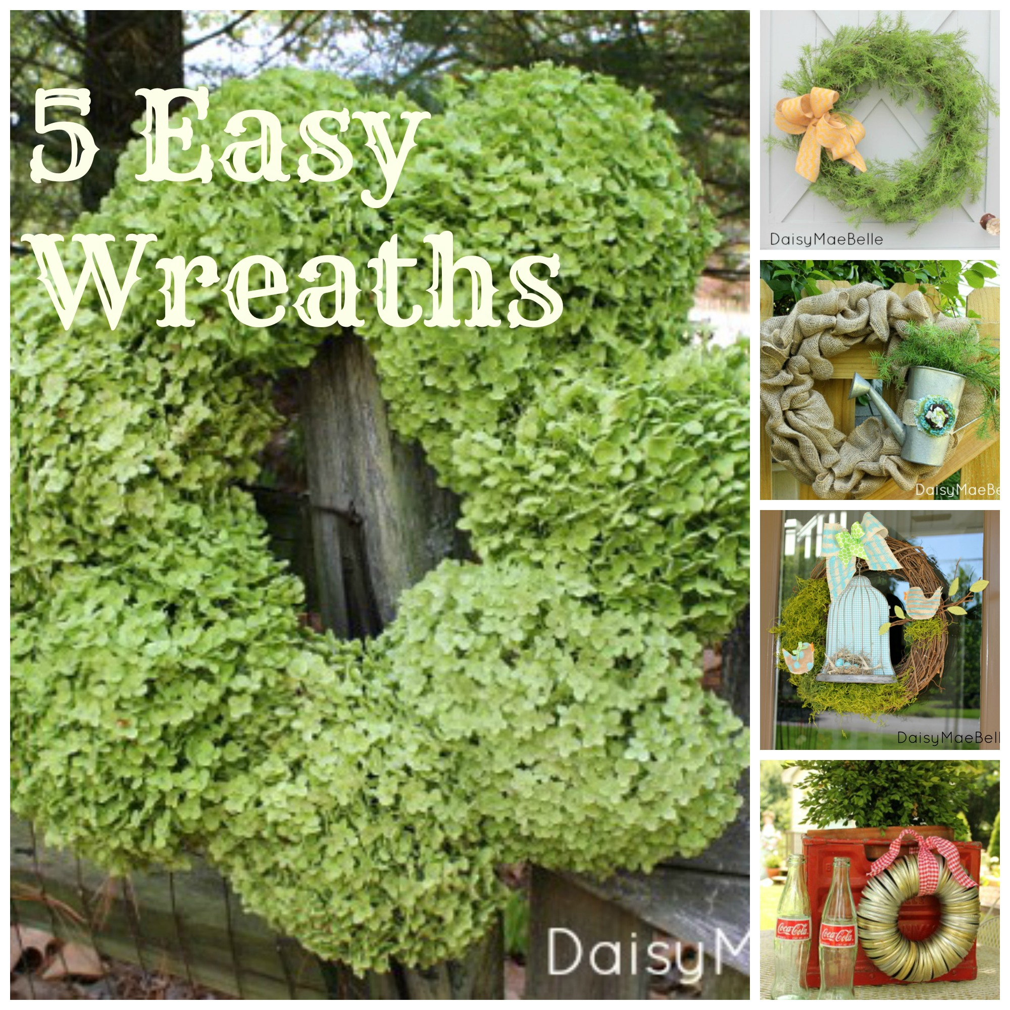 Charmant 5 Easy Wreath @ DaisyMaeBelle