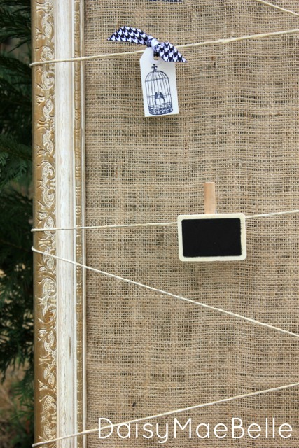 Twine and Burlap Frame @ DaisyMaeBelle