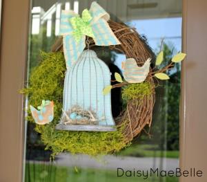 Birdcage Wreath @ DaisyMaeBelle