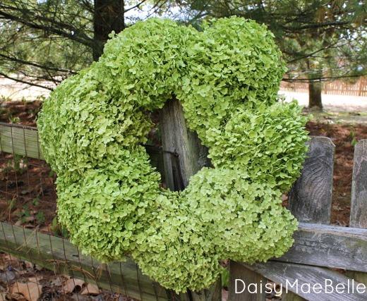 Hydrangea Wreath @ DaisyMaeBelle