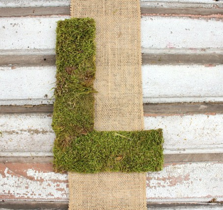 DIY Burlap and Moss Wall Hanging @ DaisyMaeBelle