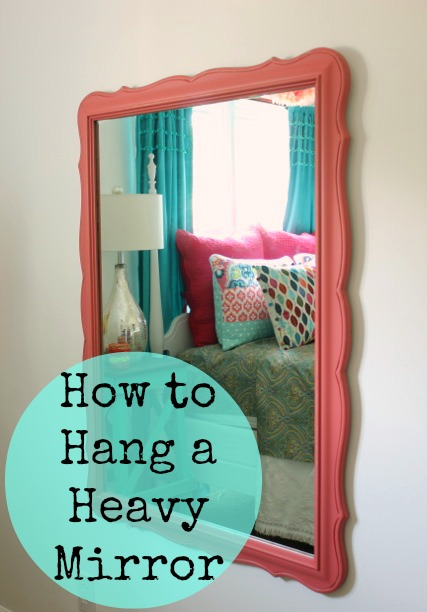 How to Hang a Heavy Mirror @ DaisyMaeBelle