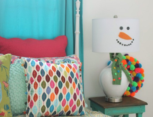 How to Make a Snowman Lamp @ DaisyMaeBelle