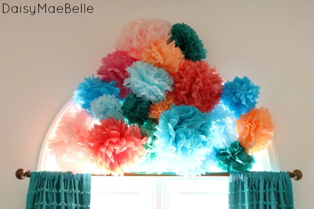 How to Hang Tissue Paper Flowers @ DaisyMaeBelle