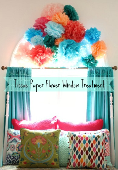 Tissue Paper Window Treatment @ DaisyMaeBelle