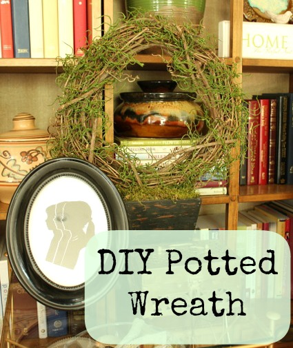 DIY Potted Wreath @ DaisyMaeBelle
