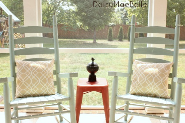painted chairs with Annie Sloan paint