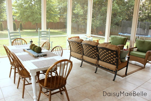 Outdoor furniture for a porch