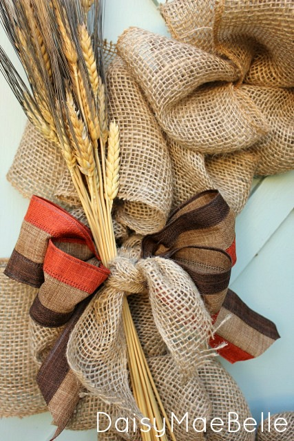 Fall Burlap Wreath @ DaisyMaeBelle
